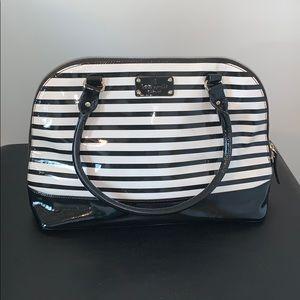 Kate Spade Black and White Stripe Handbag